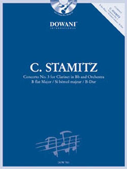 STAMITZ, C: CONCERTO NO 3 FOR CLARINET IN BB AND ORCHESTRA B FLAT MAJOR