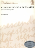 CONCERTINO NO. 1 IN F MAJOR FOR CLARINET AND PIANO (J-B BREVAL)